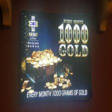 Gold Görselli Işıklı Light Box